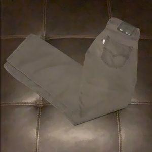 Levi's 514 white tab jeans grey strait fit 29X32